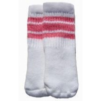 "5"" SKATERSOCKS white style 5-03 bubblegum pink stripes"