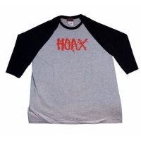"HOAX raglan ""Splat"" grey mottled/ black"