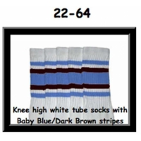 22 SKATERSOCKS white style 22-064 baby blue/dark brown...