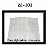 "22"" SKATERSOCKS white style 22-103 plain white"