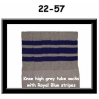 22 SKATERSOCKS grey style 22-057 blue stripes