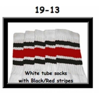 19 SKATERSOCKS white style 19-013 red/black stripes