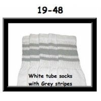 19 SKATERSOCKS white style 19-048 grey stripes