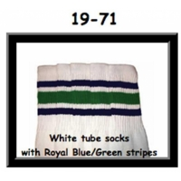 19 SKATERSOCKS white style 19-071 white socks royal...