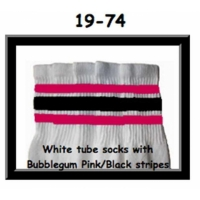 19 SKATERSOCKS white style 19-074 with bubblegum...