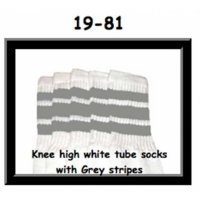 19 SKATERSOCKS white style 19-081 grey stripes