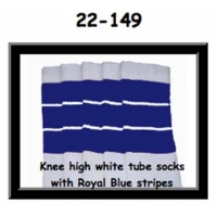 22 SKATERSOCKS white style 22-149 royal blue