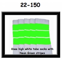 22 SKATERSOCKS white style 22-150 neon green