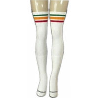 35 SKATERSOCKS white style 35-02 rasta stripes