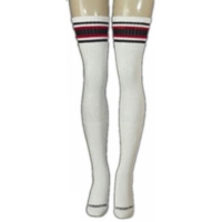 35 SKATERSOCKS white style 35-10 black/red stripes
