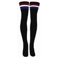 35 SKATERSOCKS black style 35-17 red/white/blue stripes