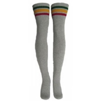 35 SKATERSOCKS grey style 35-19 rasta green/gold/red stripes