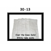 "30"" SKATERSOCKS white style 30-13 plain white"
