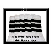 10 SKATERSOCKS white style 10-01 black stripes