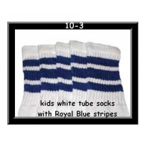 10 SKATERSOCKS white style 10-03 royal blue stripes
