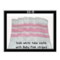 10 SKATERSOCKS white style 10-05 baby pink stripes