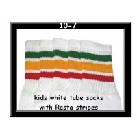 10 SKATERSOCKS white style 10-07 rasta stripes