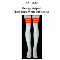 35 SKATERSOCKS white style 35-32 orange stripes
