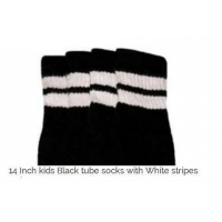 14 SKATERSOCKS black style 14-22 white stripes