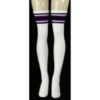 35 SKATERSOCKS white style 35-43 purple/black stripes