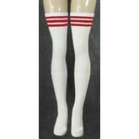 35 SKATERSOCKS white style 35-13 red stripes