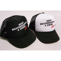"JUICE ""Keep Skateboarding a Crime"" mesh Cap"