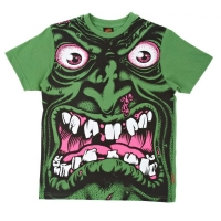 Santa Cruz Youth T Shirt Robface Rot/Grün/Gelb