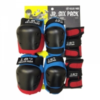 187 KILLER PADS Protection Junior Six Pack Red/Blue XS/XXS