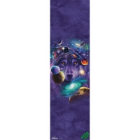 "The Mountain Wolf of the Cosmos  GriptapeSheet 9"" x..."