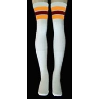 35 SKATERSOCKS white style 35-36 gold/maroon stripes