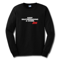 JUICE Keep skateboarding a crime longsleeve black