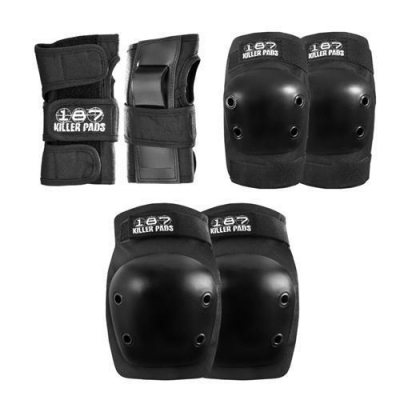 187 KILLER PADS Protection Junior Six Pack Black One Size XS/XXS