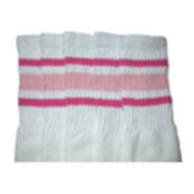 35 SKATERSOCKS white style 35-03 bubblegum pink/baby pink stripes