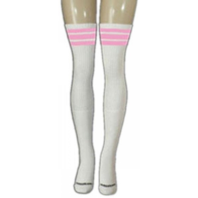 35 SKATERSOCKS white style 35-05 baby pink stripes