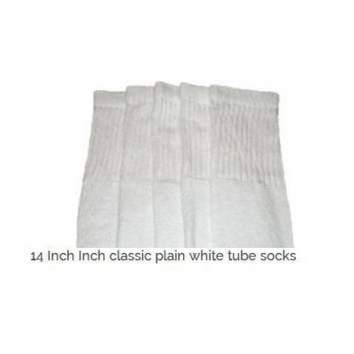 14 SKATERSOCKS white style 14-27 plain white