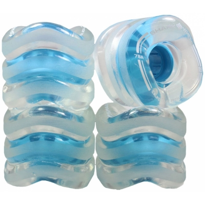 SHARK WHEELS California Roll 60mm/78a clear/blue hub