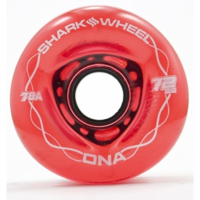 SHARK WHEELS DNA (brand new formula) 72mm/78a transparent red