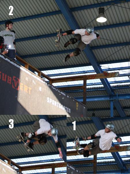Dirk Rösen, erneuter Gewinner in Skateboard Halfpipe A