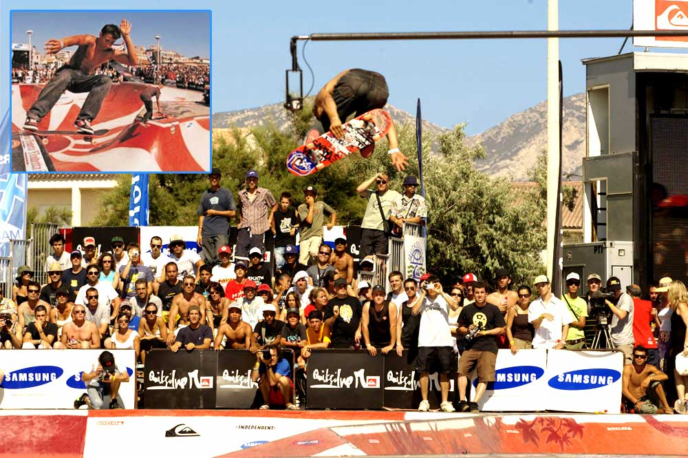 Alex Cochini on his first day riding SUBVERT: 2nd place Quiksilver Bowlriders (in front of TNT, Galloway, Cardone, Gireaud, Chriss Senn....(check http://2005.bowlriders.com/)