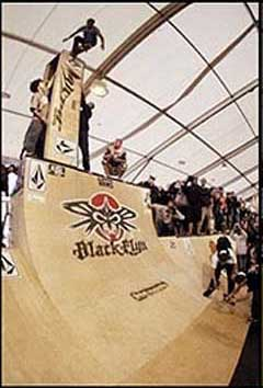 Sleiman won the GNARLIEST SLAM AWARD at the Mystic Cup 2005 with this twice repeated 21ft drop slam!
