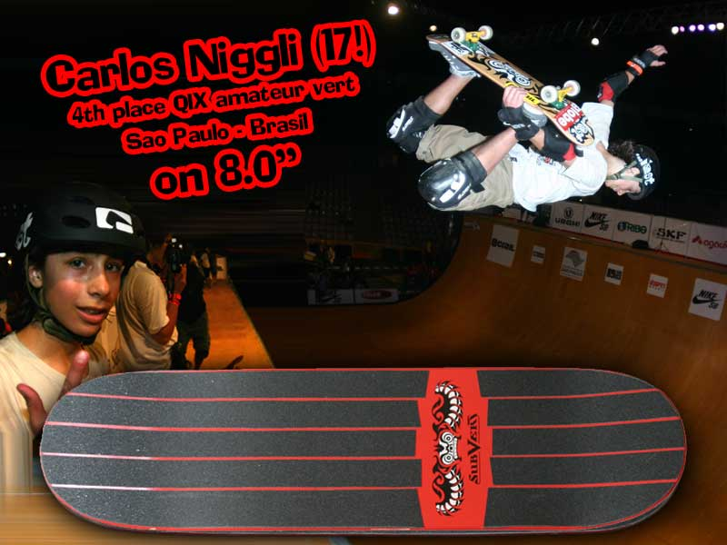 our youngest team rider: Carlos Niggli from Sao Paulo