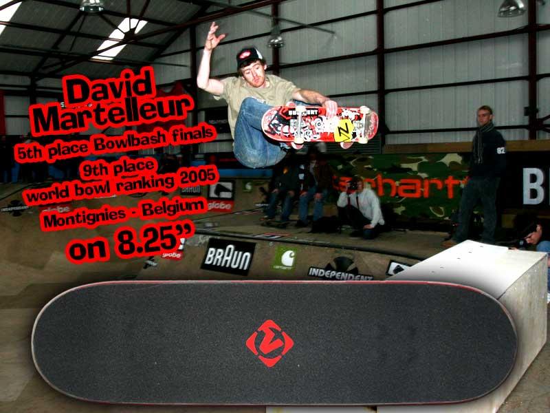 Our very first teamrider: Europes most punkrock skater DAVID MARTELLEUR!