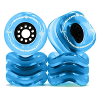 SHARK WHEELS MEGALODON 95mm/78A transparent blue