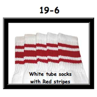 19 SKATERSOCKS white style 19-006 red stripes