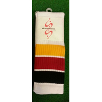 22 SKATERSOCKS white style 22-906 black/red/yellow stripes