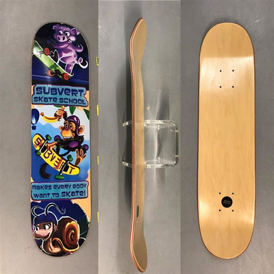 SUBVERT SKATE SCHOOL 3Animals deck / all sizes and shapes