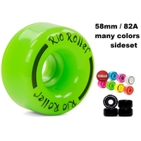 Rio Roller Coaster Wheels 58mm 82A sideset w/cores