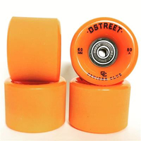 D-Street Cruiser Wheels 80A 60mm orange + free bearings