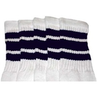 22 SKATERSOCKS white style 22-005 navy blue stripes