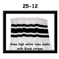 25 SKATERSOCKS white style 25-012 black stripes